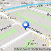 Kaart Primera Middenweg Amsterdam, Nederland