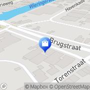 Kaart Niks Fietsenhal Middenmeer, Nederland
