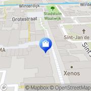 Kaart Ontano Trendshop Waalwijk, Nederland