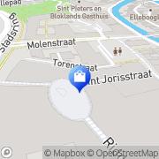 Kaart Blokker BV Amersfoort, Nederland