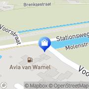 Kaart Wamel Firma Van Echteld, Nederland