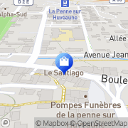 Carte de MilieJolie instant beaute La Penne-sur-Huveaune, France