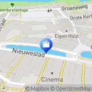 Kaart Lancé Damesmodezaak Leeuwarden, Nederland