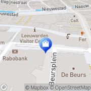 Kaart Zaailand Service Management Winkelcentrum Leeuwarden, Nederland