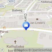 Kaart Jan Linders Supermarkten Echt, Nederland