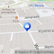 Kaart Dalen Schoenen Van Arnhem, Nederland
