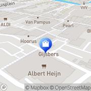 Kaart Jan Linders Supermarkten Boxmeer, Nederland