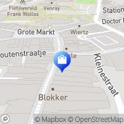Kaart Nooyen Mannenmode Jac Venray, Nederland