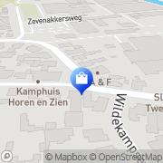 Kaart Two Friends Fashion Wapenveld, Nederland
