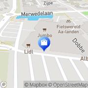 Kaart Music Store Zwolle, Nederland