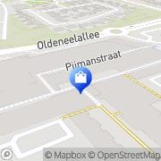 Kaart Albert Heijn Supermarkt Zwolle, Nederland