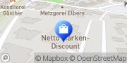 Karte Netto Filiale Goch, Deutschland