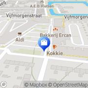 Kaart Jumbo Supermarkten BV Zutphen, Nederland