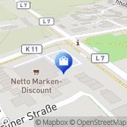 Karte Netto Filiale Hamminkeln, Deutschland