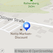 Karte Netto Filiale Beckingen, Deutschland