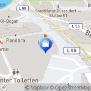 Karte Peek & Cloppenburg Düsseldorf, Deutschland