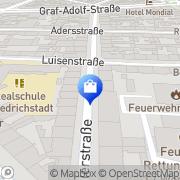 Karte Feuerwache Zentrale Düsseldorf, Deutschland