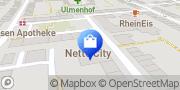 Karte Netto City Filiale Duisburg, Deutschland