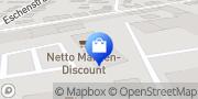 Karte Netto Filiale Oberhausen, Deutschland