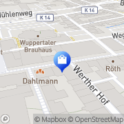 Karte Kaufhalle Wuppertal, Deutschland