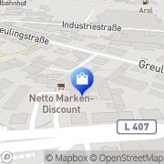 Karte Netto Filiale Remscheid, Deutschland