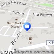 Karte Netto Filiale Metelen, Deutschland