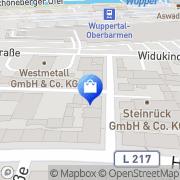 Karte Fa. Franke Braun Wuppertal, Deutschland