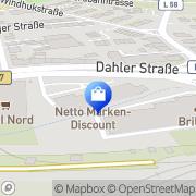 Karte Netto Filiale Wuppertal, Deutschland