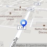 Karte Netto Filiale Lingen, Deutschland