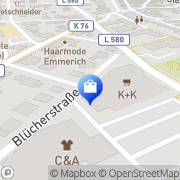 Karte K + K Klaas und Kock B.V. Steinfurt, Deutschland