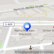 Karte Netto Filiale Dortmund, Deutschland