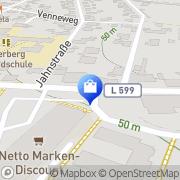 Karte Netto Filiale Recke, Deutschland