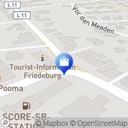 Karte Netto Filiale Friedeburg, Deutschland