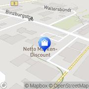 Karte Netto Filiale Hohberg, Deutschland