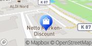 Karte Netto Filiale Wangerland, Deutschland