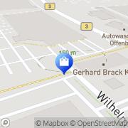 Karte Neukauf Markt Offenburg, Deutschland