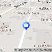 Karte Takko ModeMarkt GmbH & Co. Bad Säckingen, Deutschland
