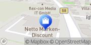 Karte Netto Filiale Beckum, Deutschland