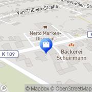 Karte Netto Filiale Varel, Deutschland