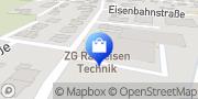 Karte ZG Raiffeisen Technik GmbH Sinzheim, Deutschland