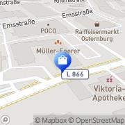 Karte Netto Filiale Oldenburg, Deutschland