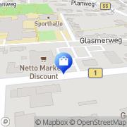 Karte Netto Filiale Erwitte, Deutschland