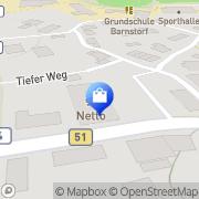 Karte Netto Filiale Barnstorf, Deutschland