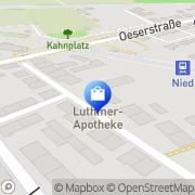 Karte Luthmer Apotheke Frankfurt am Main, Deutschland