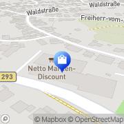 Karte Netto Filiale Walzbachtal, Deutschland