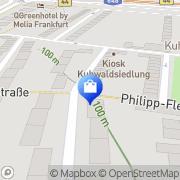 Karte Kuhwald-Apotheke Frankfurt Flughafen, Deutschland