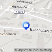 Karte Kur-Apotheke am Bahnhof Bad Schönborn, Deutschland