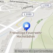 Karte Freiwillige Feuerwehr Hochstädten Bensheim, Deutschland