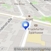 Karte Westend Apotheke Frankfurt Flughafen, Deutschland