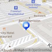 Karte Tabak Reisen Frankfurt am Main, Deutschland
